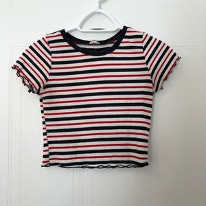 Garage striped top